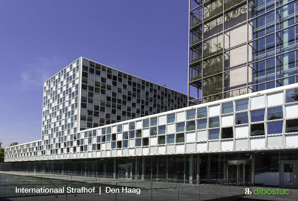 Stukwerk bij het Internationaal Strafhof, Den Haag